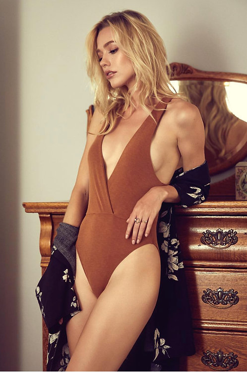 The Olivia Deep V Bodysuit