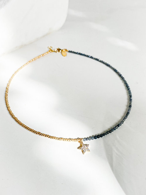 Agua Santa   Agate Beads + Star Necklace