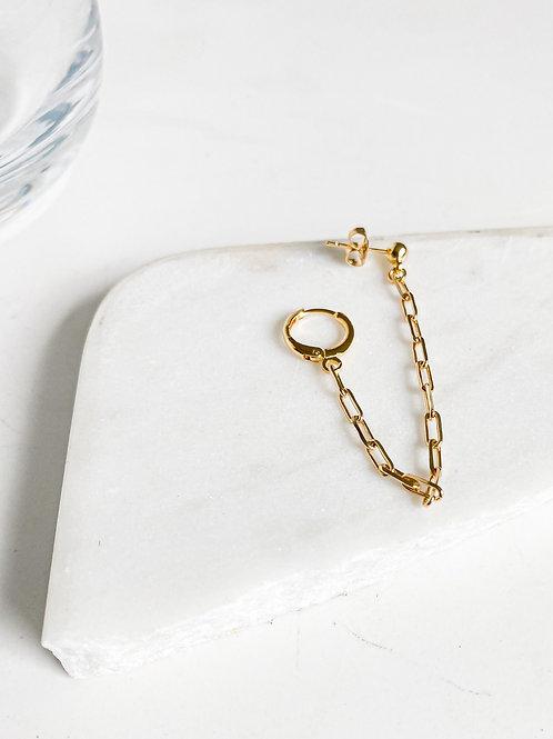 Agua Santa | Single Drape Chain Earring