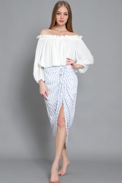 The Nantucket Striped Skirt