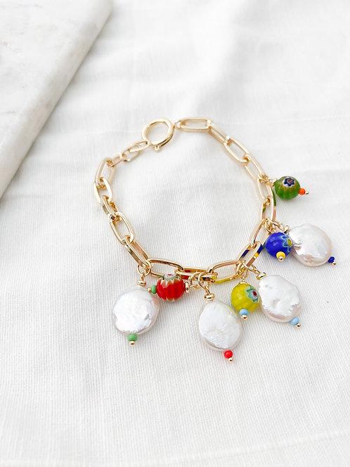 AGUA SANTA | Pearl + Charm Bracelet