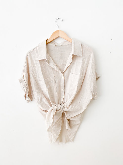 The Rory Raw Hem Button-down