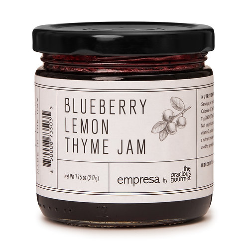 The Gracious Gourmet | Blueberry Lemon Thyme Jam