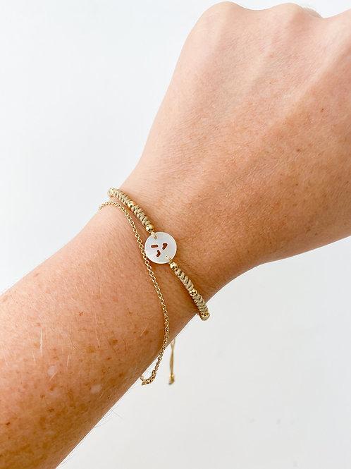Agua Santa | Initial Bracelet