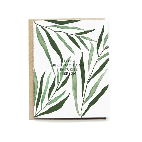 Pen+Pillar | Palm Leaf Birthday