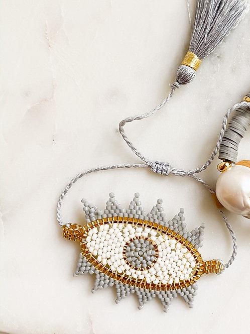 AGUA SANTA | Beaded Evil Eye Bracelet