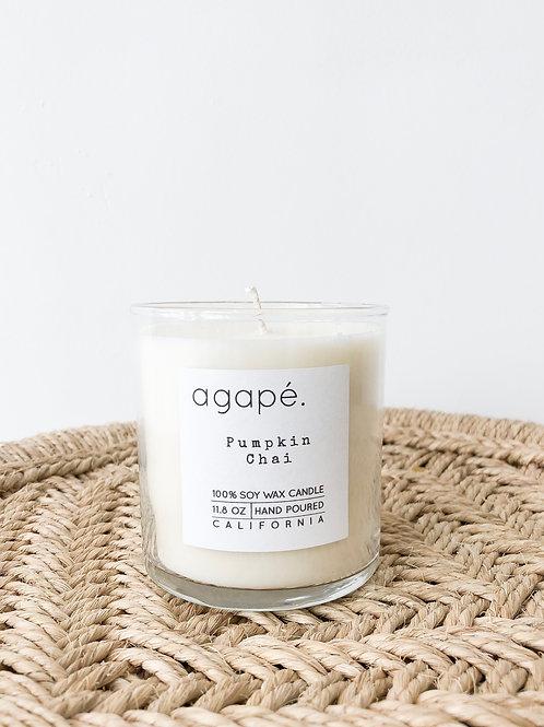 Agape Candle   Pumpkin Chai
