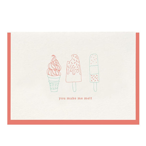 Dahlia Press | You Make Me Melt Card