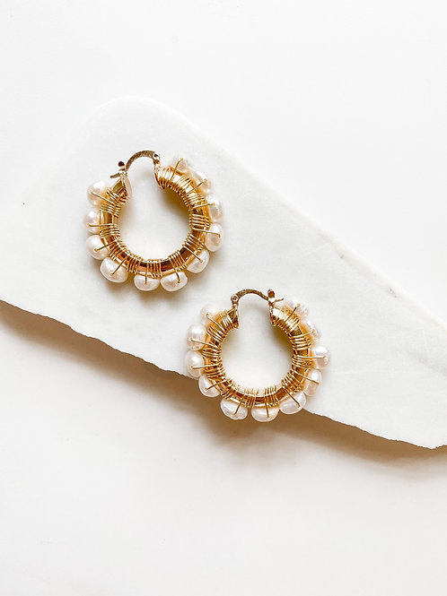 AGUA SANTA | Pearl Drop Hoops