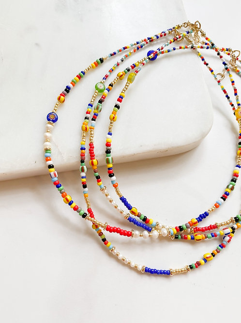 AGUA SANTA | Multi Colored Bead Necklace