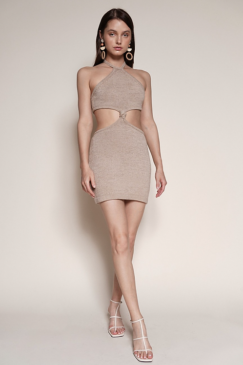 The Bianca Cut Out Dress | Taupe
