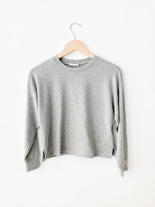 Chelsea Crop Sweater | Heather Grey