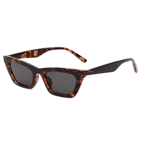 Cramilo Eyewear   Tortoise Slim Vintage Cat Eye Sunglasses