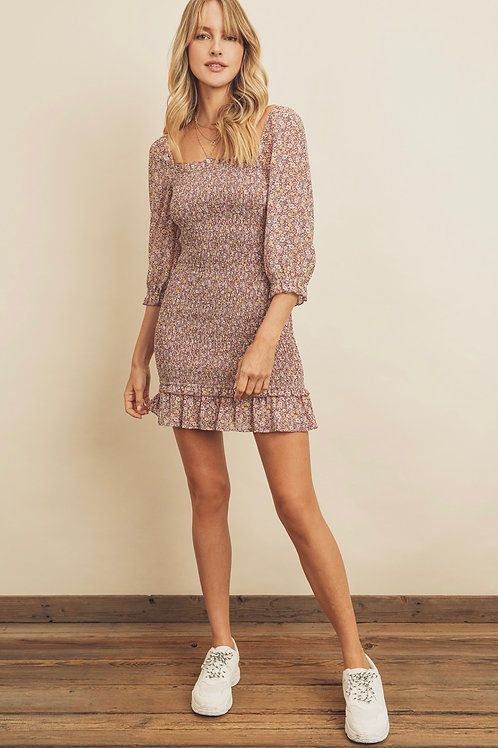 The Penelope Smocked Mini Dress