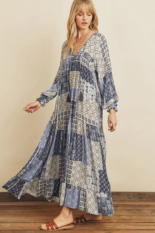 The Florence Patchwork Maxi | Azul