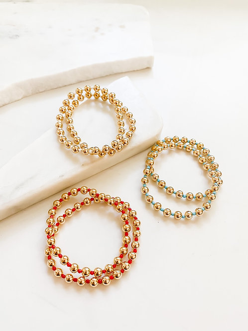 AGUA SANTA  | Gold  Beaded ColorBracelet