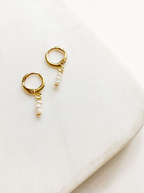 AGUA SANTA | Micro Pearl  Drop Earrings