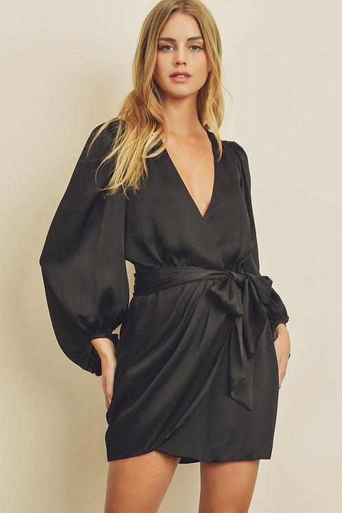Take Me Out Mini Wrap Dress