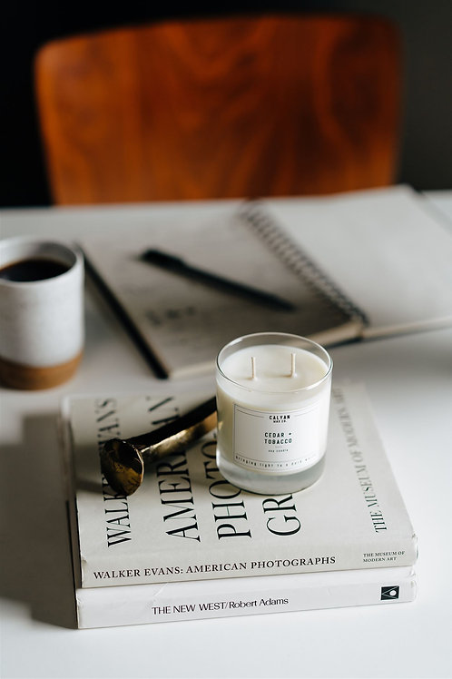Calyan Wax Co. | Cedar + Tobacco Candle
