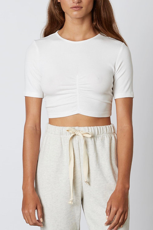 The Brittaney Crop T | White