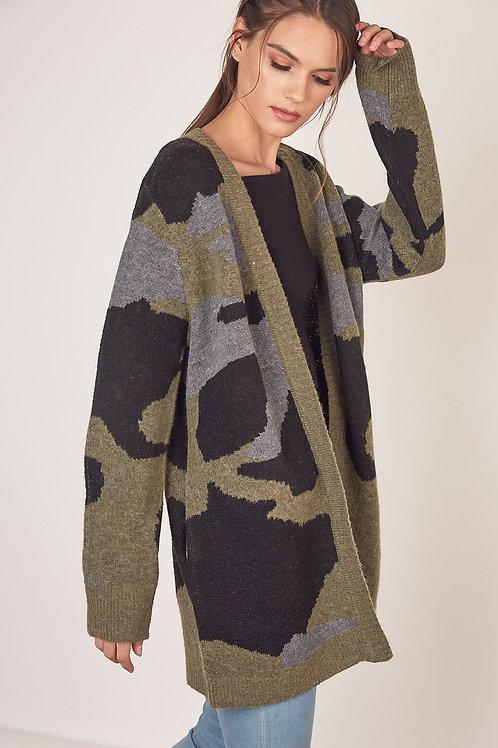 The Camo Knit Cardi
