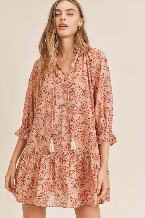 The Maeva Paisley Mini Dress