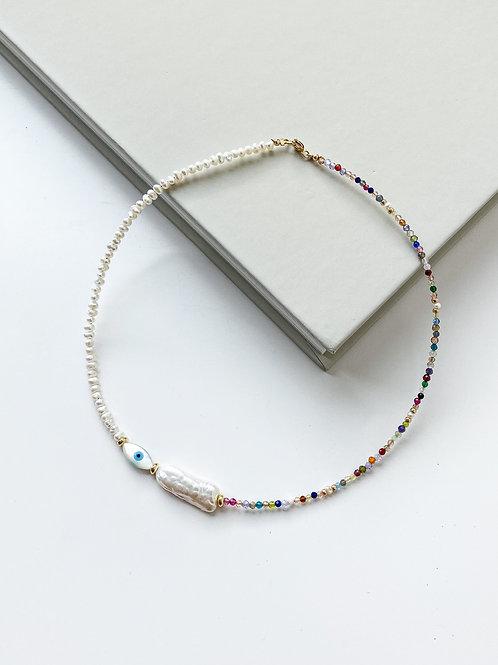 AGUA SANTA |  Evil Eye Multi Beads Necklace