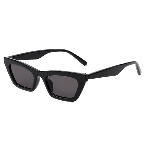 Cramilo Eyewear | Black Slim Vintage Cat Eye Sunglasses