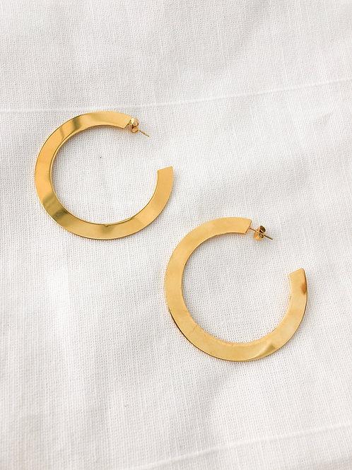 Gold Flat Hoop