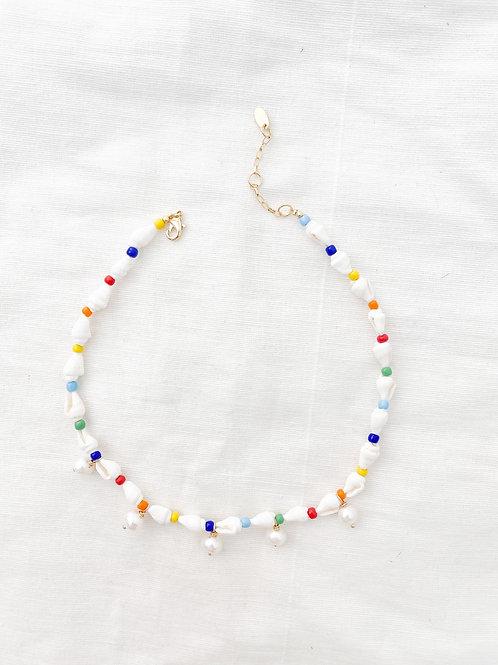 AGUA SANTA | Seashells & Rainbow Beads Pearl Necklace