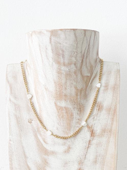 AGUA SANTA | Chain + Hearts Choker Necklace