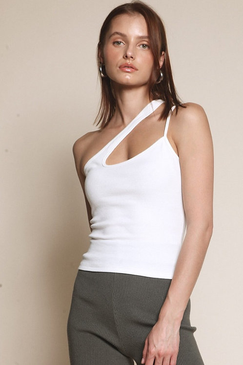 The Andie  Cutout Tank Top  | White
