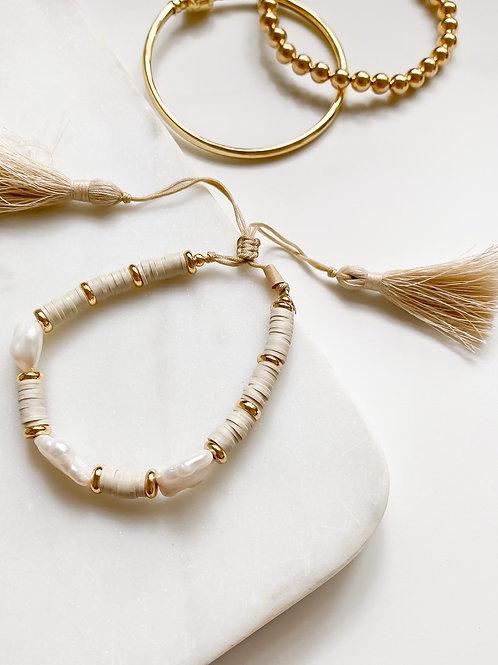 AGUA SANTA    Pearl + Bead Bracelet