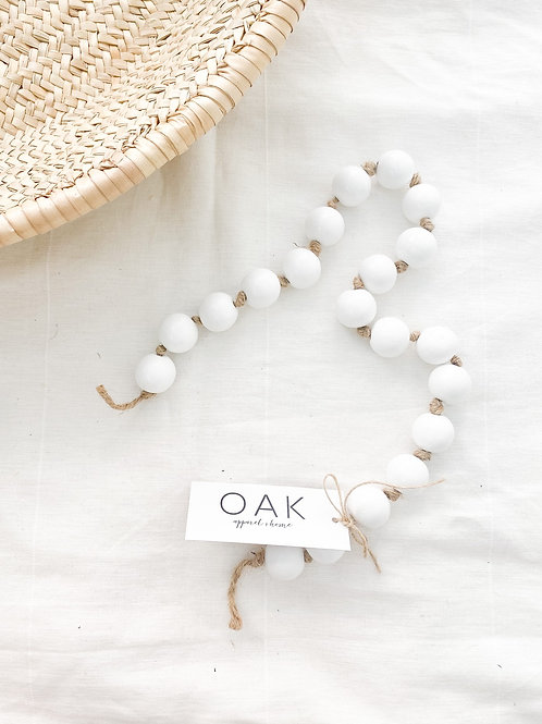 Simply Styled | White Wood Garland