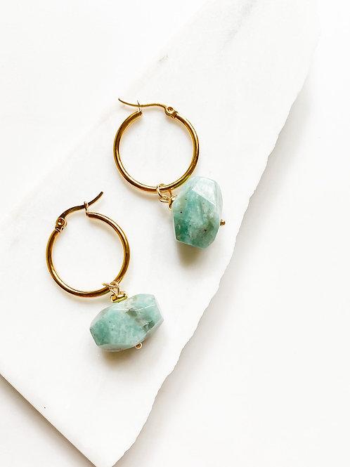 AGUA SANTA | Turquoise Stone  Drop Earrings