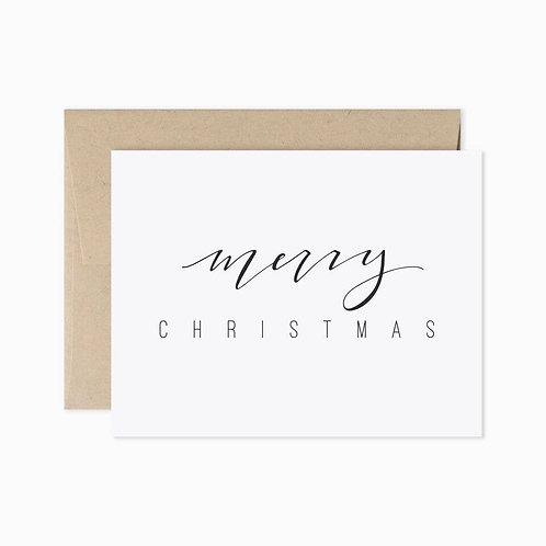 Evermore Paper Co. | Merry Christmas Black & White