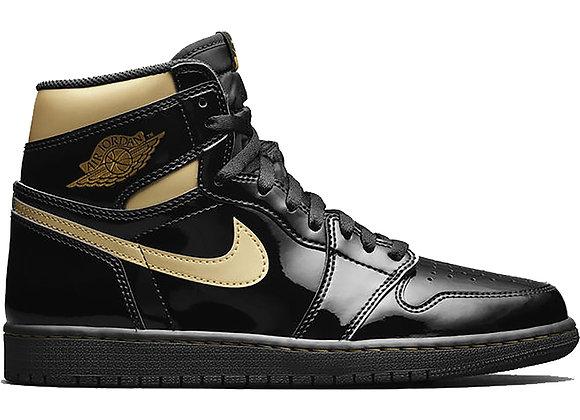 Air Jordan 1 Black Metallic Gold