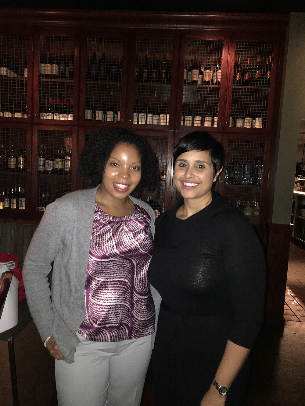 Christine Jean Louis (L), Asst Attorney General at the CT Office of the Attorney General & Shannon White (R) HR/Recruiting Consultant of Untapped Potential