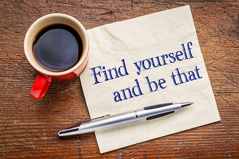 Find yourself and be that -self discover