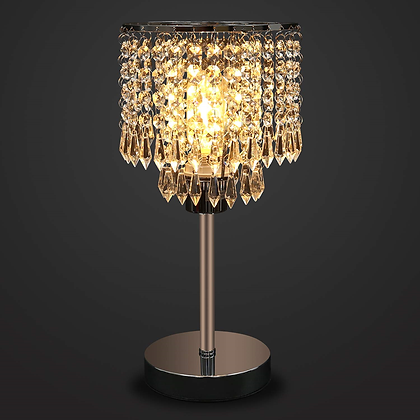 Crystal chrome table lamps