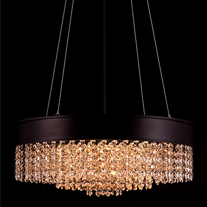 Multicolored crystal chandelier