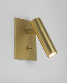 Clear gold wall light