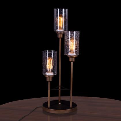 Three Horn Table Lamp