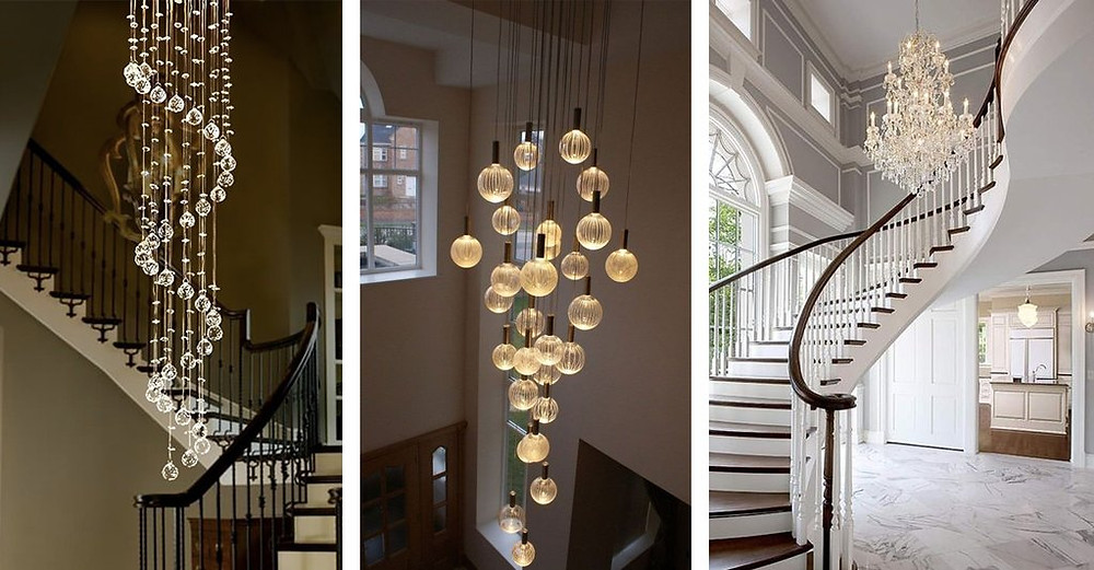 chandelier for stairs or foyers