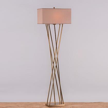 Cross leg floor lamps