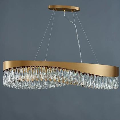 Oval crystal chandelier