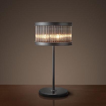 Matt black crystal table lamp