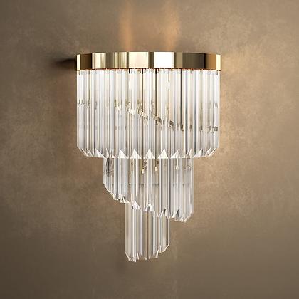 Designer Gold Plated Spiral Crystal  Wall Light