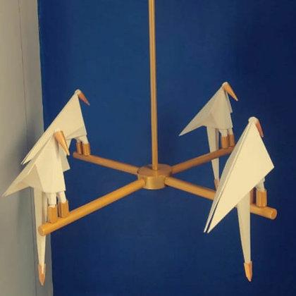 Chandelier - 4 perch Birds