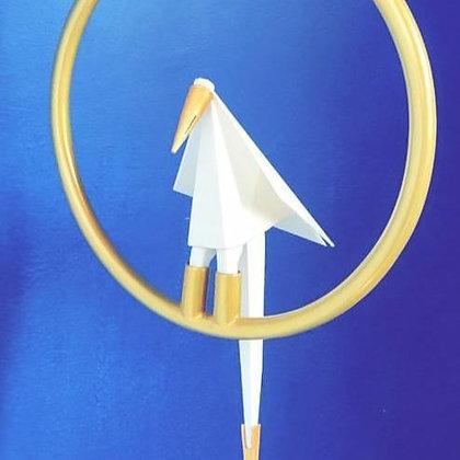 Single Bird Hanging Light-Round Brass Metal finish